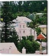 A Unique Aspect Of Rooftops In St. George's,  Bermuda Acrylic Print