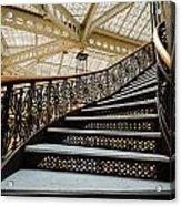 Rookery Building Atrium Staircase Acrylic Print