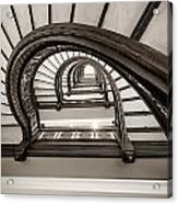 Rookery Building Off Center Oriel Staircase Acrylic Print
