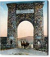 Roosevelt Arch Yellowstone Np Acrylic Print