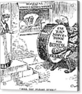 Roosevelt Cartoon, 1908 Acrylic Print by Granger