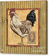 Rooster And Stripes Acrylic Print by Debbie DeWitt
