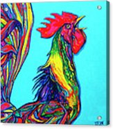 Rooster Crow Acrylic Print