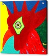 Rooster Dude Acrylic Print