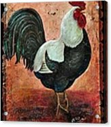 Rooster Fresco Acrylic Print