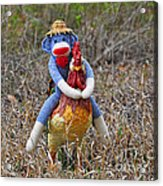 Rooster Rider Acrylic Print