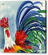 Rooster With Attitude Acrylic Print