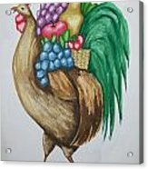 Rooster's Fruit To Go Acrylic Print
