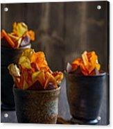 Root Vegetable Crisps Acrylic Print