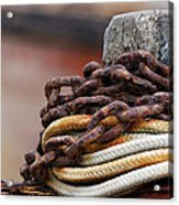 Rope And Chain Acrylic Print