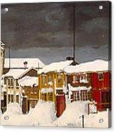Roros In Winter - Norway Acrylic Print
