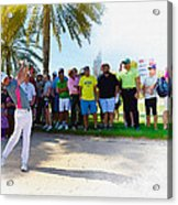 Rory Mcilroy - The Third Round Of The Omega Dubai Desert Classic Acrylic Print