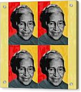 Rosa Parks X4 Acrylic Print by Lawrence Hubbs
