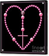 Rosary With Pink And Purple Beads Acrylic Print