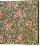 Rose 93 Wallpaper Design Acrylic Print by William Morris