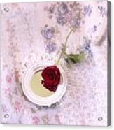 Rose And Mirror Acrylic Print