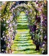 Rose Arch In Summer Sunshine Acrylic Print