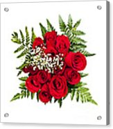 Rose Bouquet From Above Acrylic Print