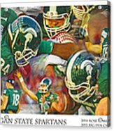Rose Bowl Collage Acrylic Print
