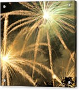 Rose Bowl Fireworks Acrylic Print