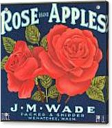 Rose Brad Apples Crate Label Acrylic Print