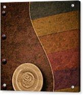 Rose Button Acrylic Print by Tom Mc Nemar