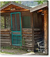 Rose Cabin At The Holzwarth Historic Site Acrylic Print