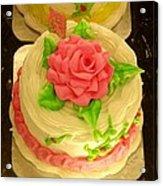 Rose Cakes Acrylic Print