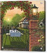 Rose Cottage - Dinner For Two Acrylic Print