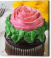 Rose Cupcake Acrylic Print
