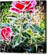 Rose Expressive Brushstrokes Acrylic Print