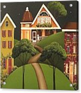 Rose Hill Lane Acrylic Print