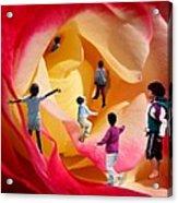 Rose Labyrinth Acrylic Print