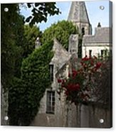 Rose Lane In Loches Acrylic Print