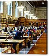 Rose Main Reading Room New York Public Library Acrylic Print