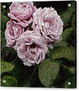 Rose Mosaic 1 Acrylic Print