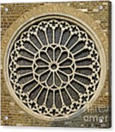 Rose Of The Cathedral Of San Giusto Acrylic Print