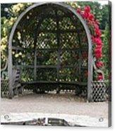 Rose Pavilion At Chateau Villandry Acrylic Print
