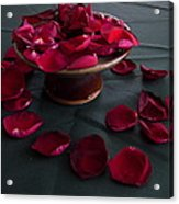 Rose Petals And Pottery Acrylic Print