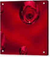 Rose Syrup Abstract 1 B Acrylic Print