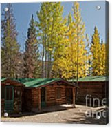 Rose Twin 1 And Twin 2 Cabins At The Holzwarth Historic Site Acrylic Print
