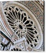 Rose Window Duomo Florence Acrylic Print