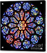 Rose Window Of Grace Cathedral By Diana Sainz Acrylic Print