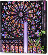 Rose Window Of St Vincent Acrylic Print