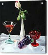 Rose Wine And Fruit Acrylic Print