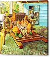 Rosebank Farm Cart Acrylic Print