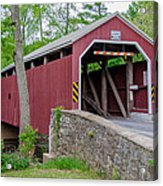 Rosehill Covered Bridge Acrylic Print