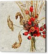 Rosehips And Grasses Acrylic Print