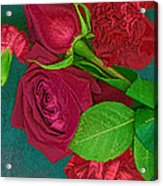 Roses And Carnations Acrylic Print