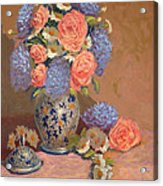 Roses And Daisies I Acrylic Print